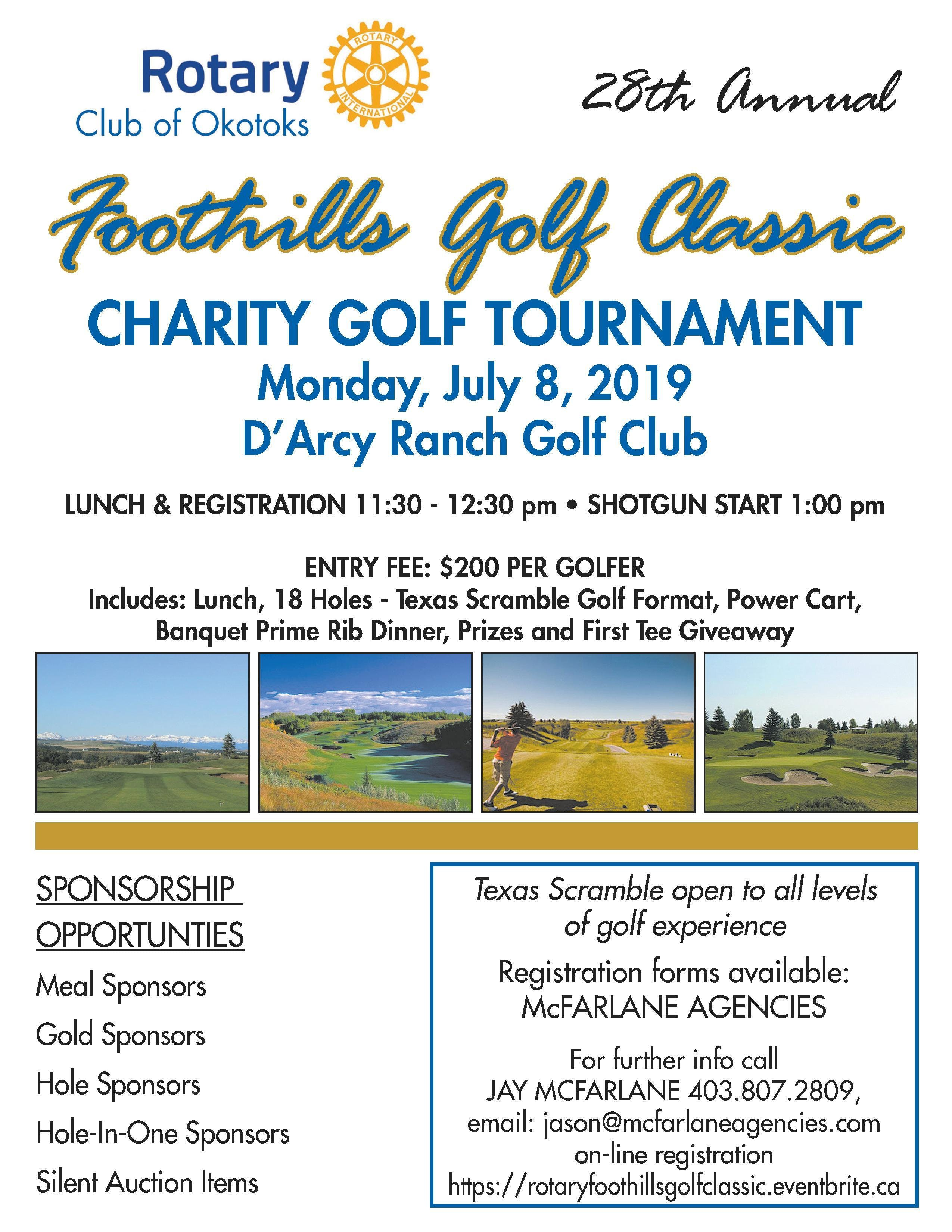 28th Annual Rotary Foothills Golf Classic | YoCaddie